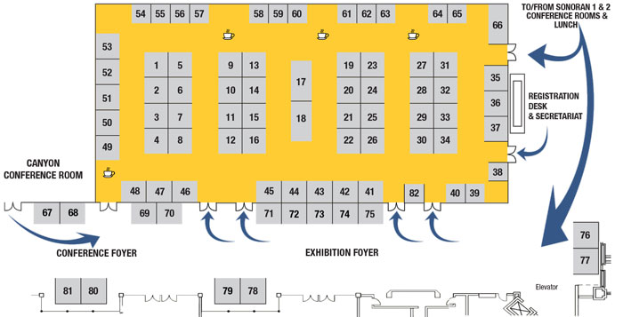 Exhibition Layout for the INMR WORLD CONGRESS